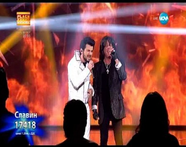 Slavin Slavchev и Joe Lynn Turner -Street of Dreams X FACTOR 09.02.2015